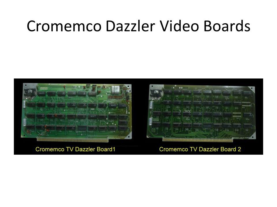 Cromemco Dazzler Video Boards