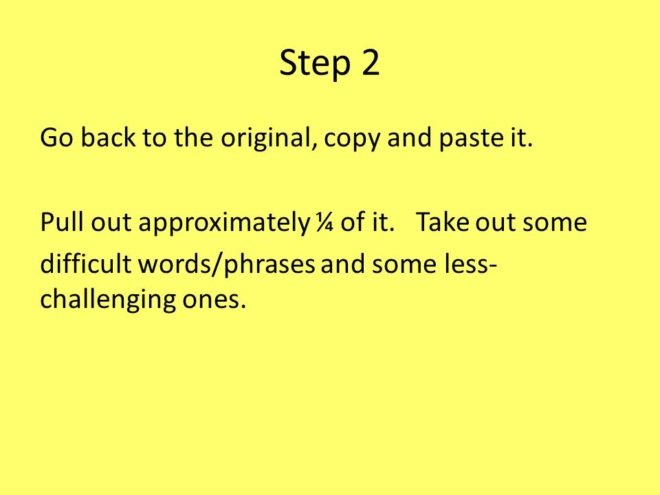 Step 2 Go back to the original, copy and paste it.