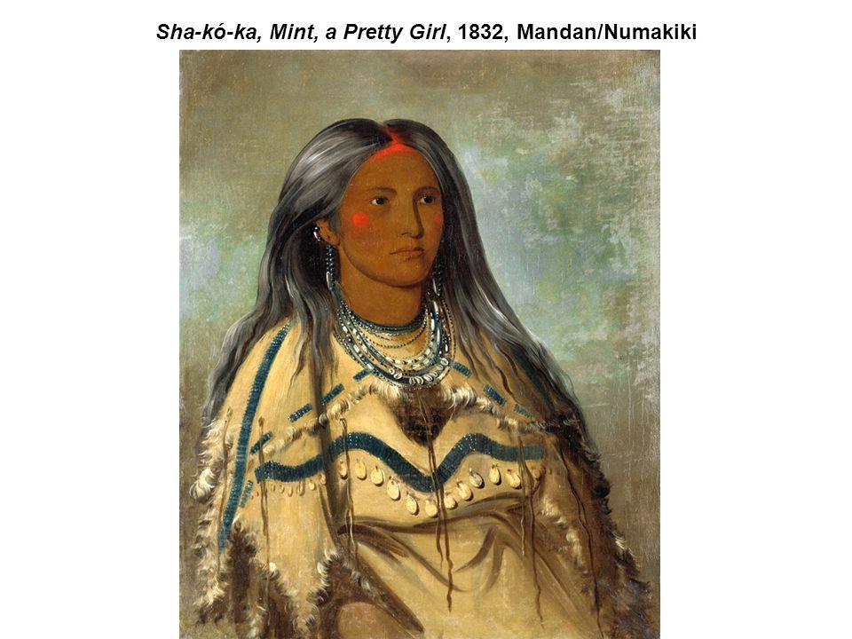 Sha-kó-ka, Mint, a Pretty Girl, 1832, Mandan/Numakiki