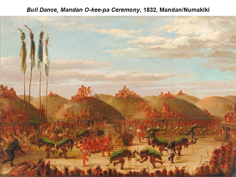 Bull Dance, Mandan O-kee-pa Ceremony, 1832, Mandan/Numakiki
