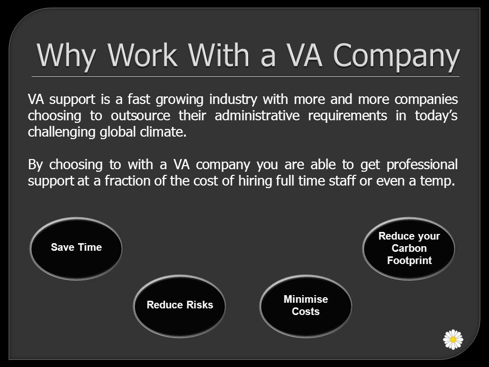 VA support is a fast growing industry with more and more companies choosing to outsource their administrative requirements in today's challenging glob
