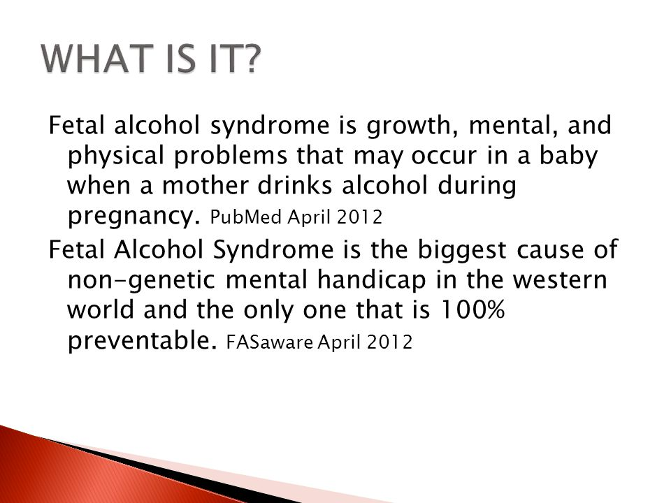  What does a child with Fetal Alcohol Syndrome look like?