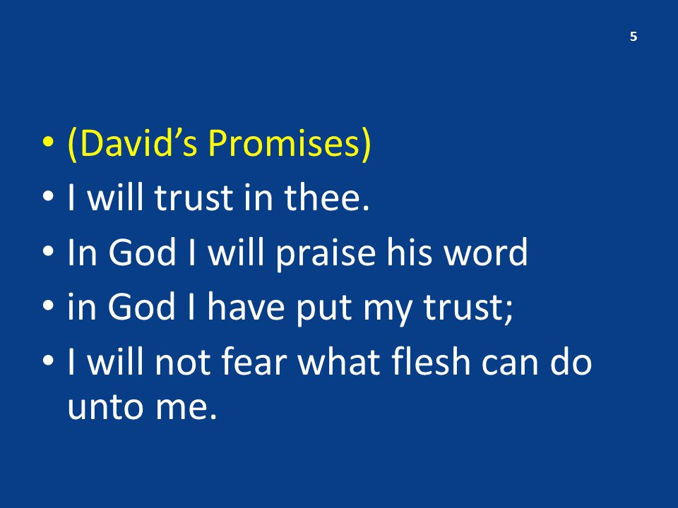 II.David's Request – vs.