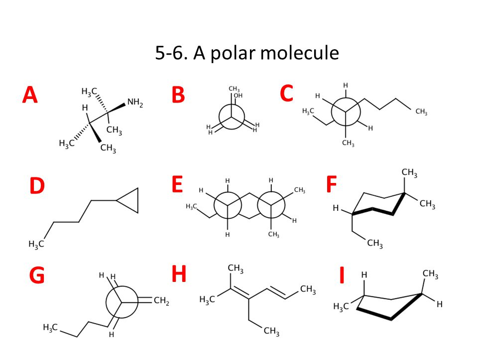 AB C D EF G H I 5-6. A polar molecule