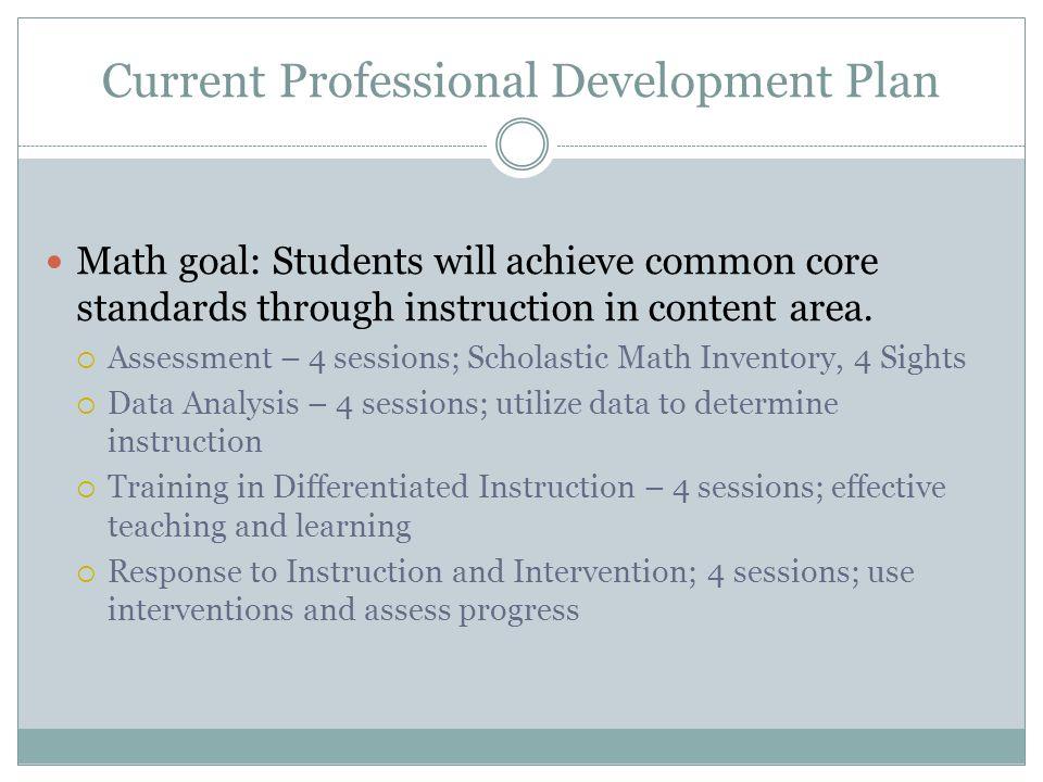 Professional Development Plan Needs 1.