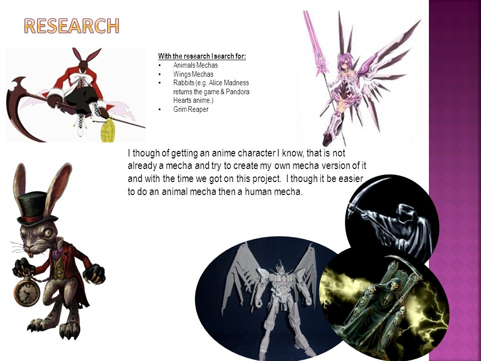 With the research I search for: Animals Mechas Wings Mechas Rabbits (e.g.