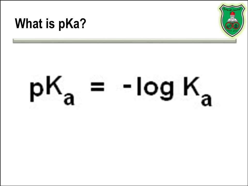 What is pKa?