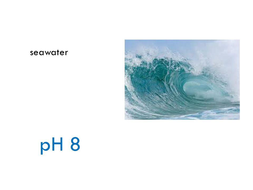 seawater pH 8