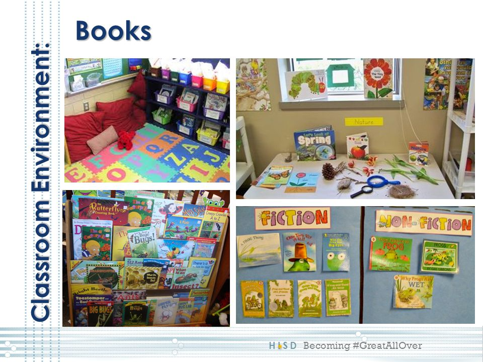 HISD Becoming #GreatAllOver Books Classroom Environment: