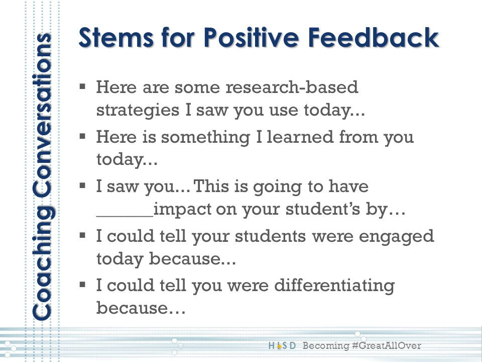 HISD Becoming #GreatAllOver  Here are some research-based strategies I saw you use today...