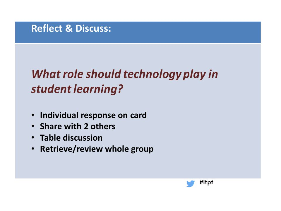 Ponder, Reflect, Turn & Talk: To what extent does this research fit with your experience?