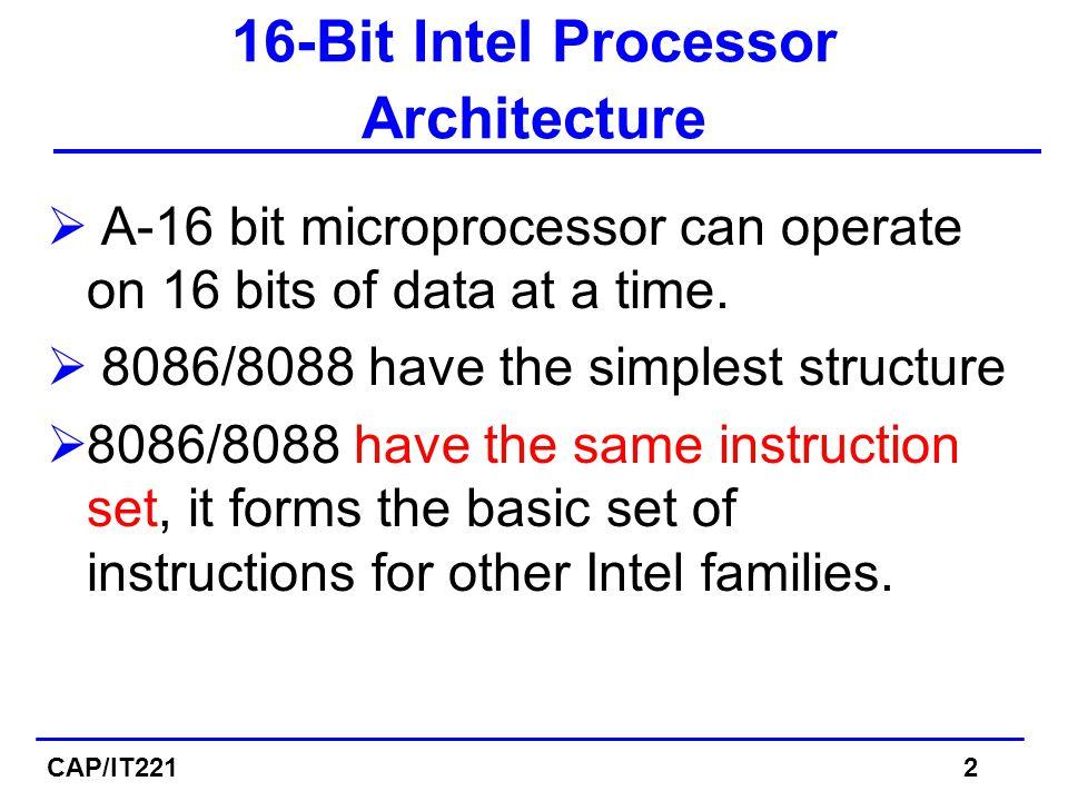 Memory Segment Is a block of 2 (64) K Bytes consecutive memory bytes.