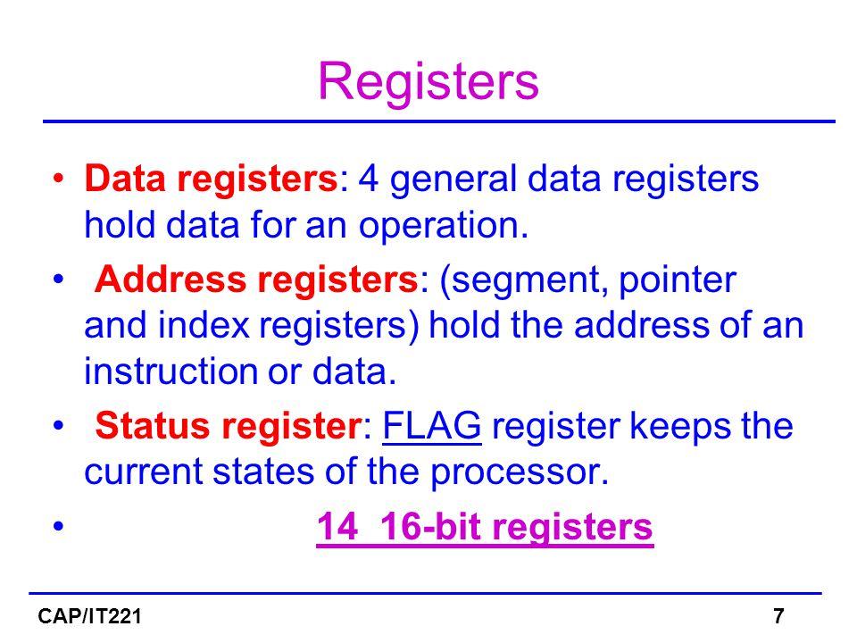 Register CAP/IT2218