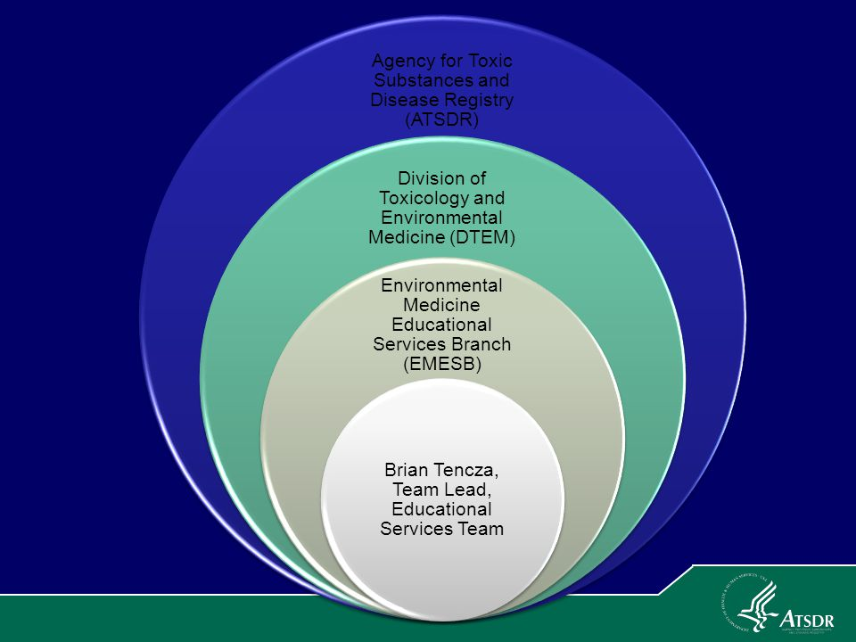 Agency for Toxic Substances and Disease Registry (ATSDR) Division of Toxicology and Environmental Medicine (DTEM) Environmental Medicine Educational S