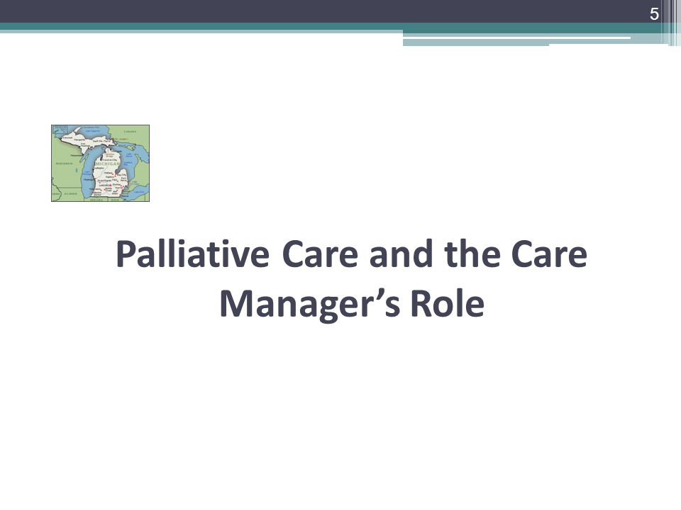 Palliative Care and the Care Manager's Role 5