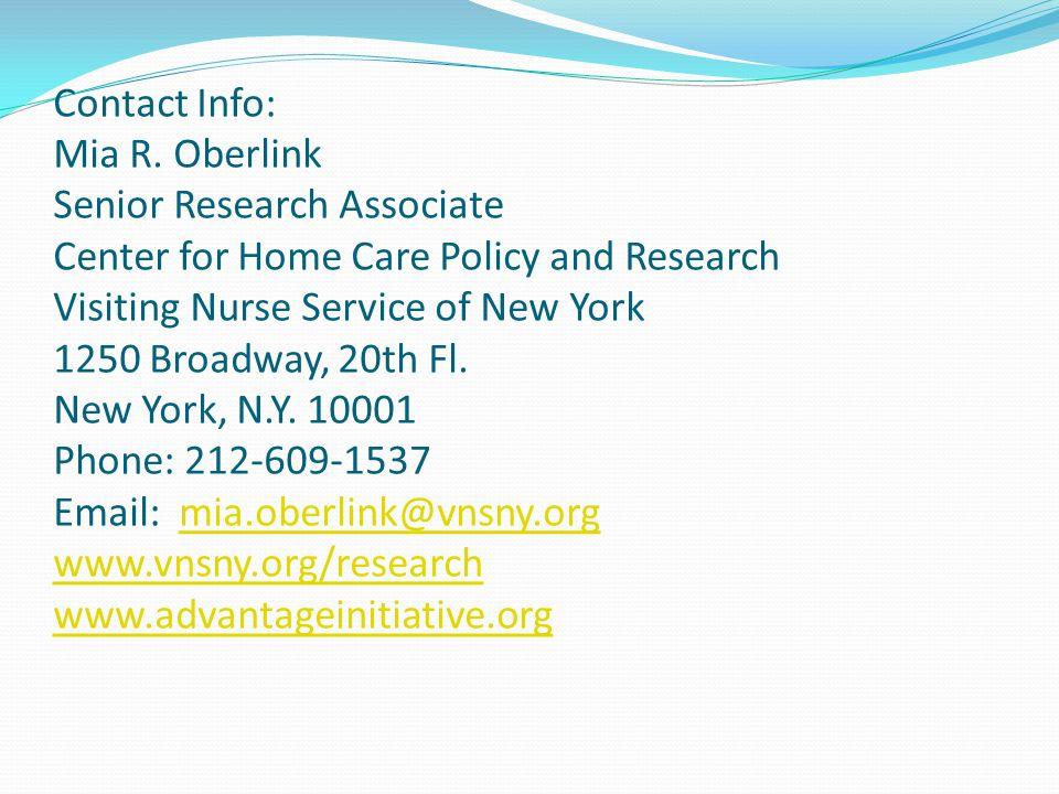 Contact Info: Mia R.
