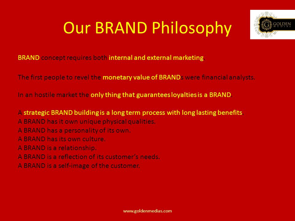 BRAND concept requires both internal and external marketing.