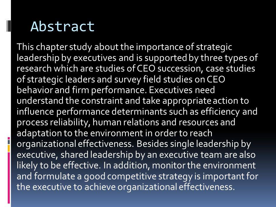 Constraints on Executives CONSTRAINTS EXTERNALINTERNAL