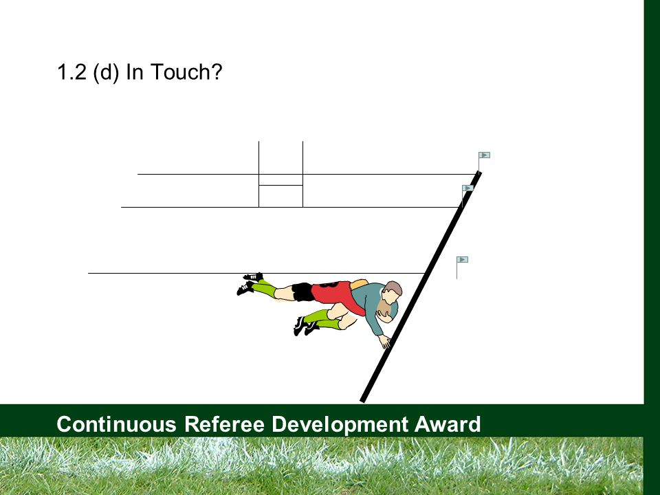 Continuous Referee Development Award 1.2 (d) In Touch