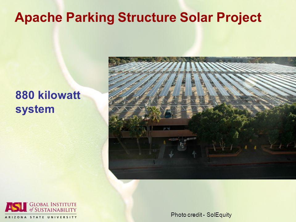 Stadium Parking Structure Solar Project Photo credit - SolEquity 711 kilowatt system