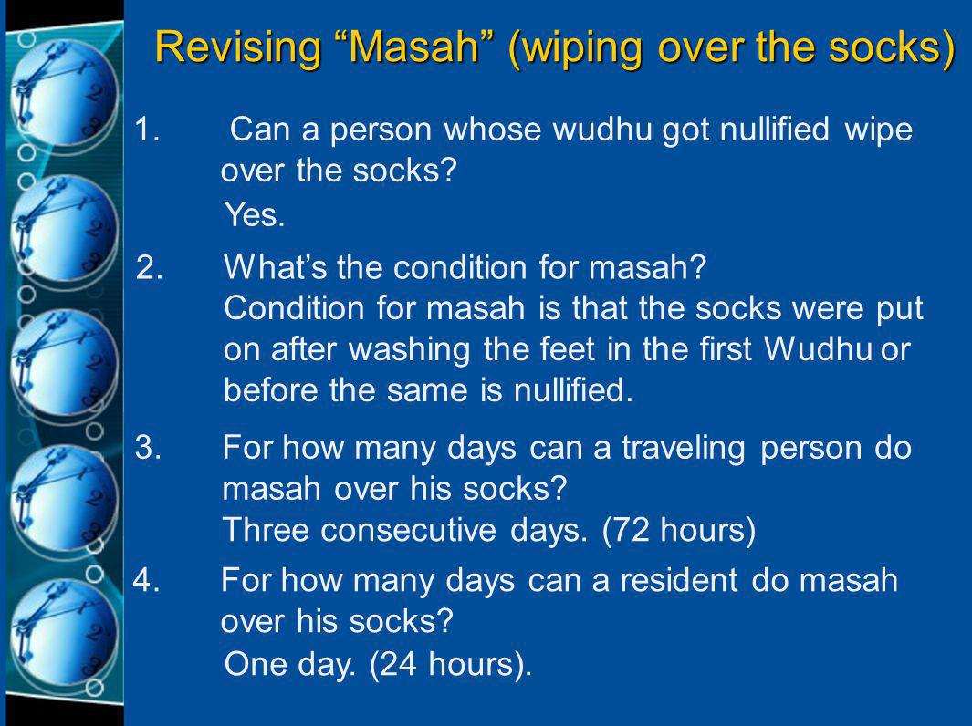 Revising: How Ghusl is Performed 1.Intend by heart to perform Ghusl.