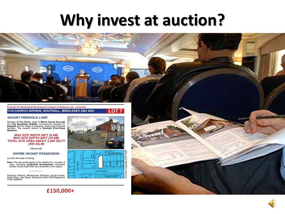 Why invest at auction? £150,000+