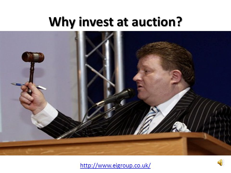 Why invest at auction? http://www.eigroup.co.uk/