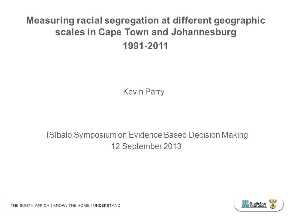 Measuring racial segregation: Theil's entropy index