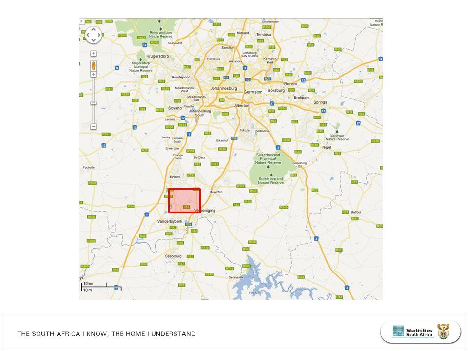 Racial diversity (E) scores for 1km 2 grid cells: Johannesburg, Census 2011