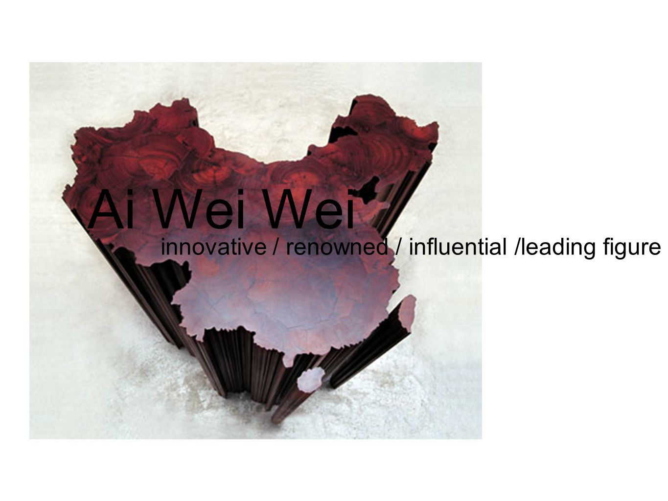 Ai Wei Wei innovative / renowned / influential /leading figure