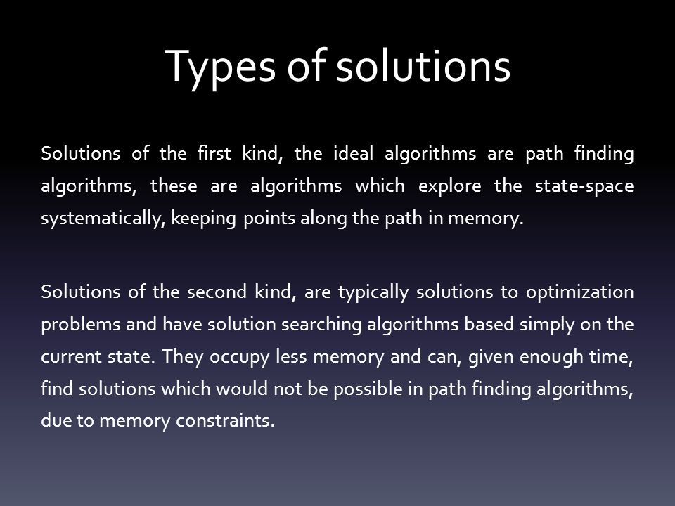 Path Finding algorithms There are 2 types of path finding algorithms: Uniformed search algorithms These search strategies just generate successors and analyze whether or not the new state is the goal state.