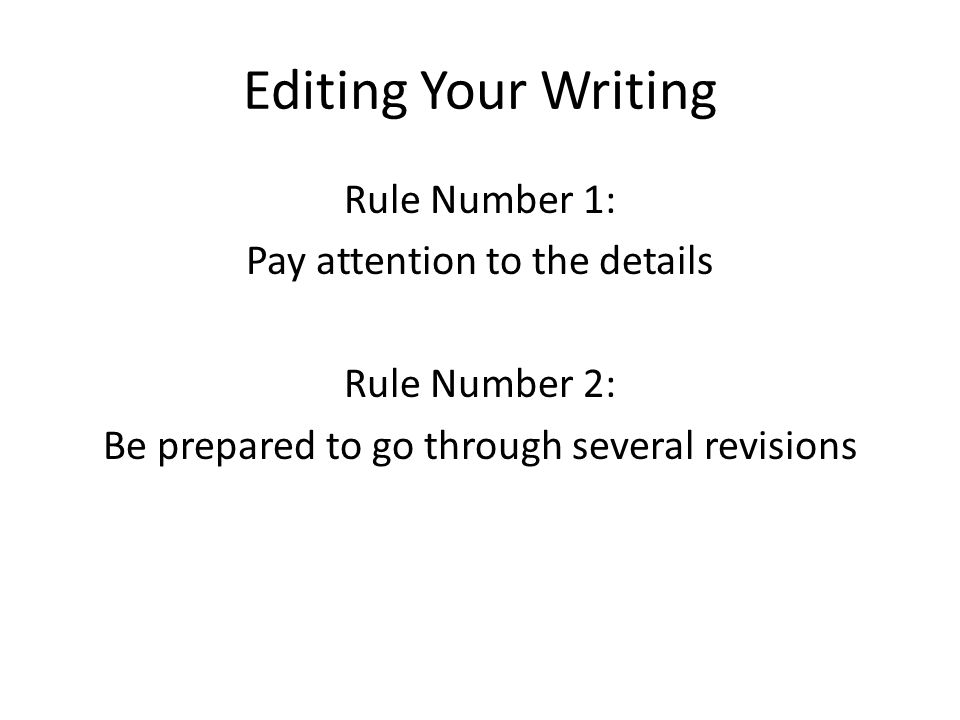 Steps to Editing Yourself as a Writer