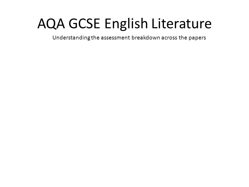 Aqa gcse english literature coursework percentage