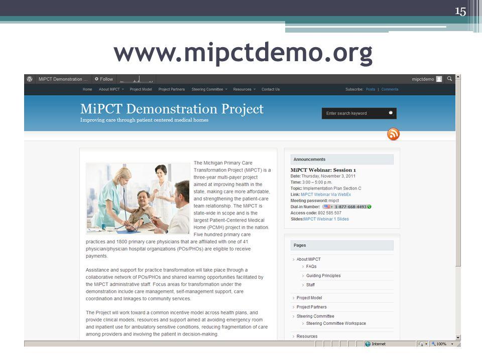 15 www.mipctdemo.org