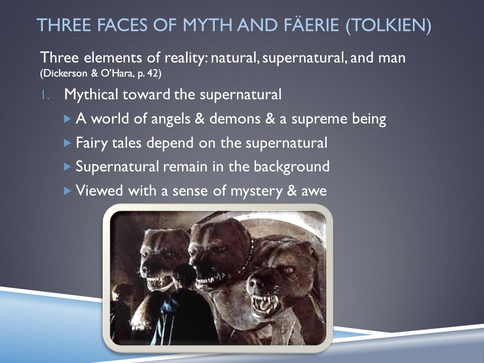 THE THREE FACES OF MYTH AND FÄERIE From Hercules to Harry Potter