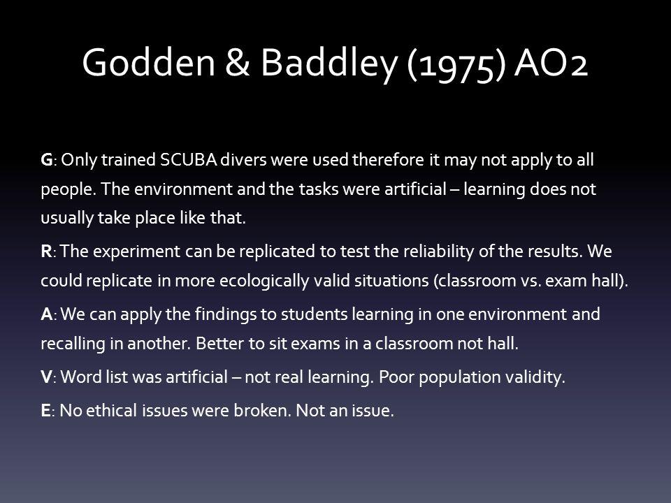 Task: Complete a detailed key study S&W for Godden & Baddeley 15mins