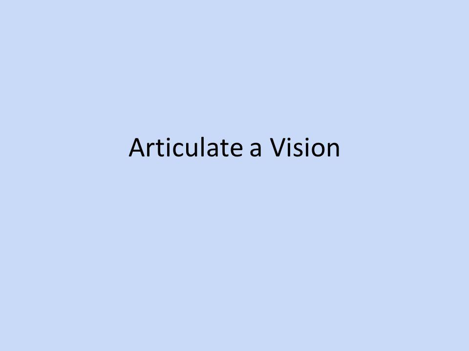 Articulate a Vision
