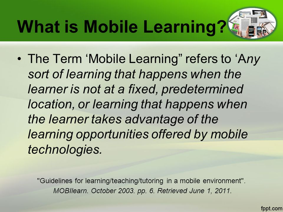 What is Mobile Learning.