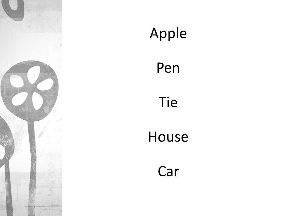 Apple Pen Tie House Car
