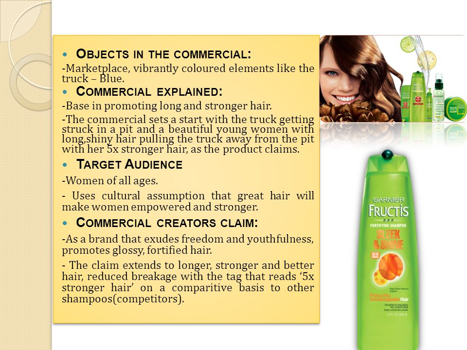 Product or service in the commercial: TRESemmé shampoo.
