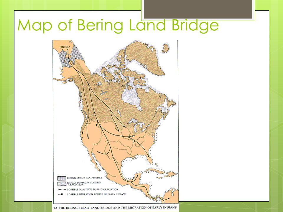 Map of Bering Land Bridge