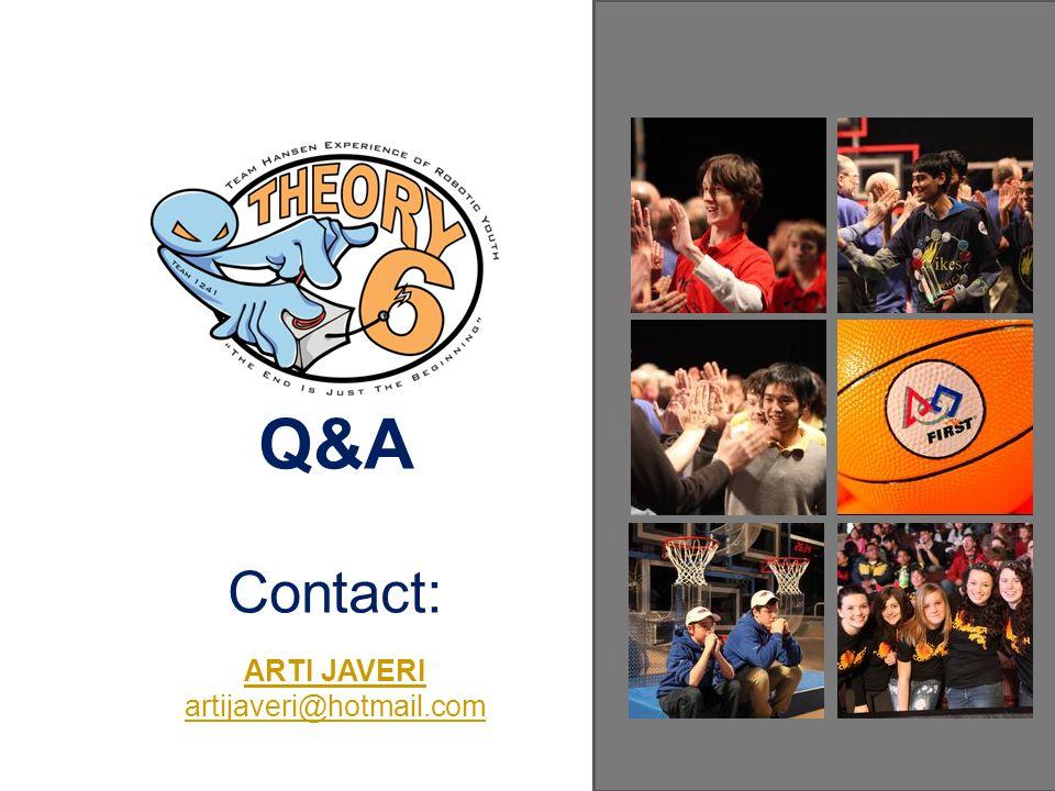 Q&A Contact: ARTI JAVERI artijaveri@hotmail.com