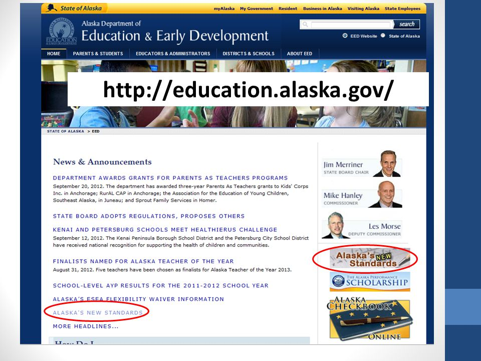 http://education.alaska.gov/