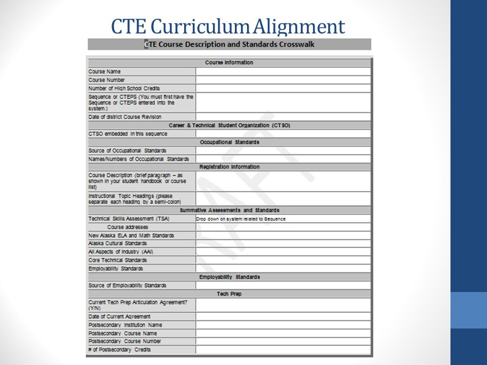 CTE Curriculum Alignment