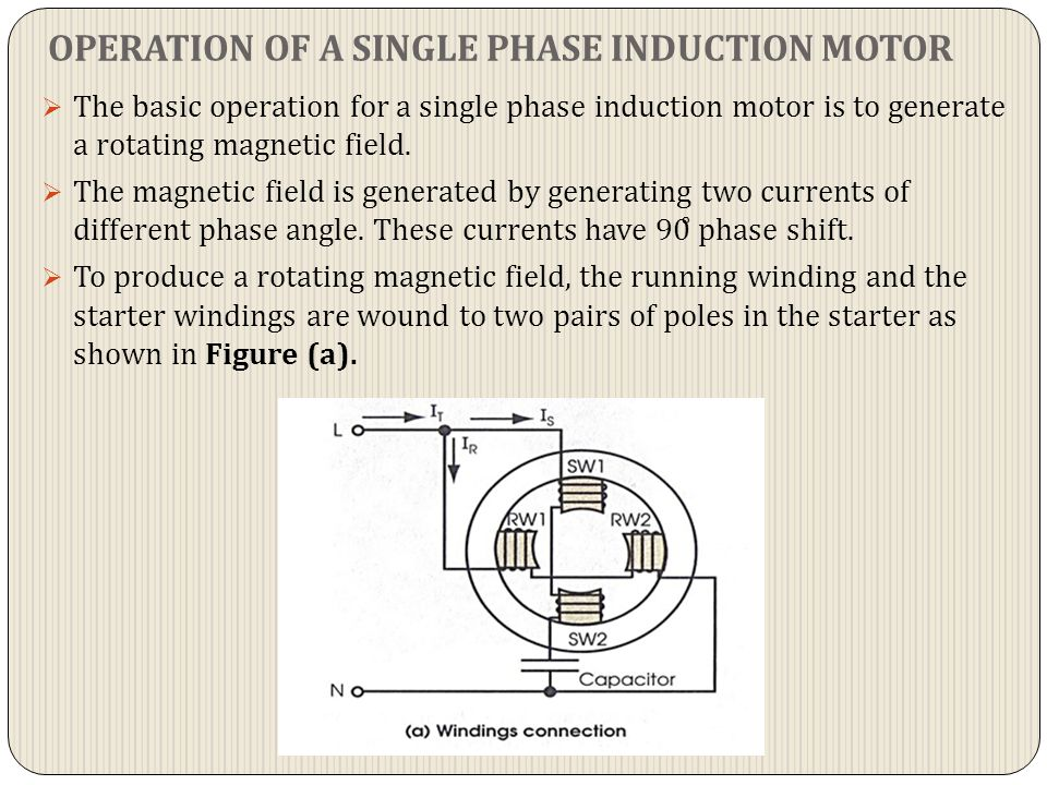  In reference to Figure (b), the main current, It will be divided into the starter current, IS and running current, IR.