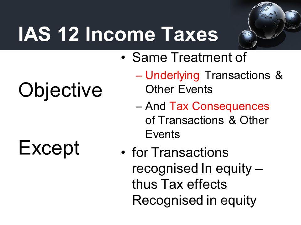 IAS 12 Income Taxes Financial Position Approach