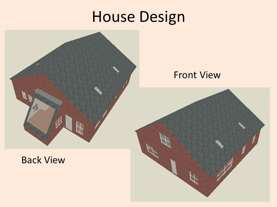 House Design Back View Front View