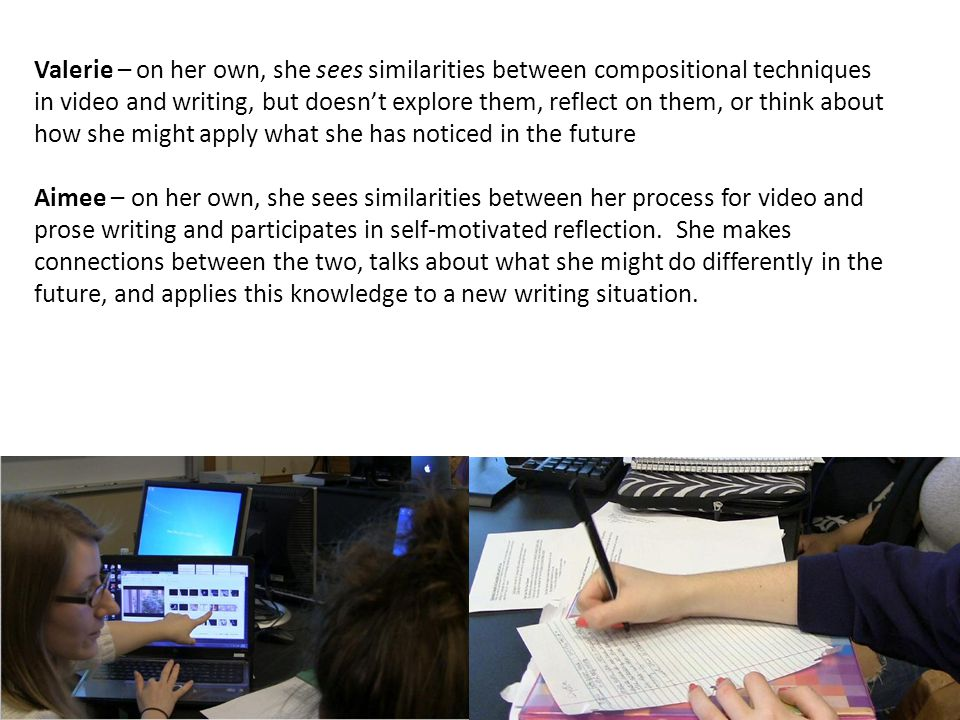 (A few) teaching implications… Specific, Guided Reflection.