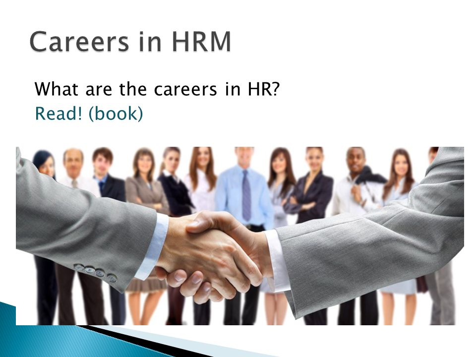 What are the careers in HR Read! (book)