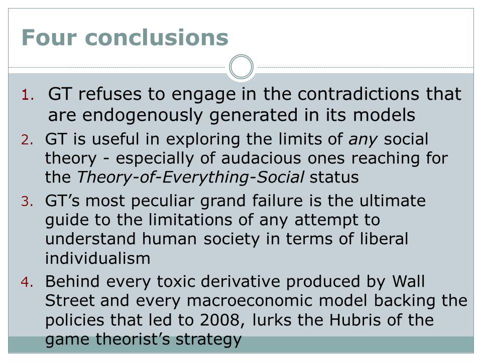 Four conclusions 1.